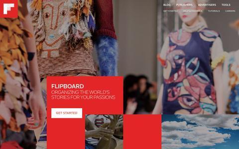 Screenshot of About Page flipboard.com - Home - captured Jan. 18, 2018