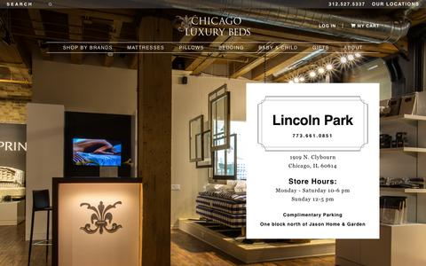 Screenshot of Locations Page chicagoluxurybeds.com - Chicago Luxury Beds - captured Nov. 18, 2016