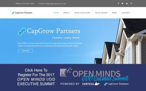 Screenshot of Home Page capgrowpartners.com - Welcome to CapGrow Partners - captured Oct. 20, 2016