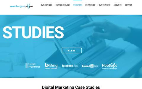 Screenshot of Case Studies Page searchenginepeople.com - Digital Marketing Agency Top SEO Companies in Canada Search Engine Optimization - captured May 7, 2017