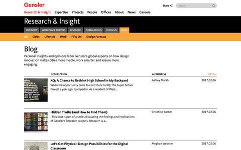 Blog | Research & Insight | Gensler