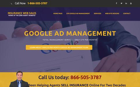 Screenshot of Home Page insurance-web-sales.com - Insurance-web-Sales.com - Low Cost Insurance Agent Web Site Design - captured Oct. 22, 2018