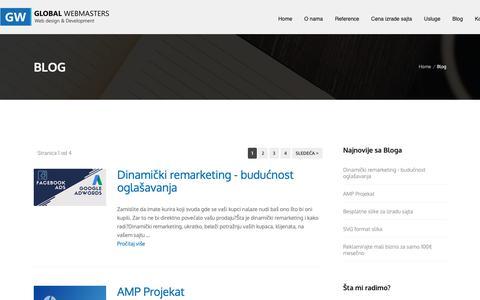 Screenshot of Blog global-webmasters.com - Blog - Global Webmasters - captured Oct. 21, 2018