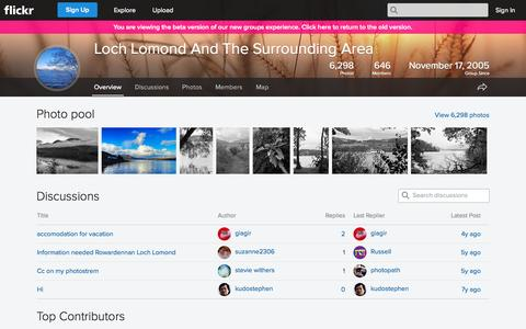 Screenshot of Flickr Page flickr.com - Flickr: The Loch Lomond And The Surrounding Area Pool - captured Oct. 23, 2014