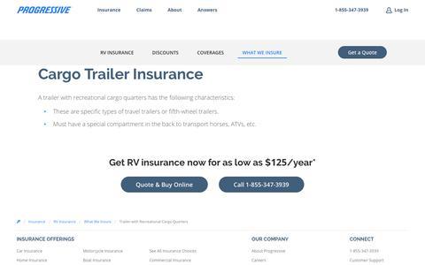 Cargo Trailer Insurance | Progressive
