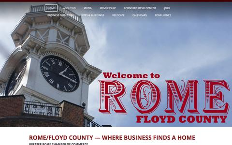 Screenshot of Home Page romega.com - Greater Rome Chamber of Commerce  Rome, GA - Greater Rome Chamber of Commerce - captured Feb. 2, 2016