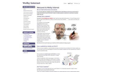 Screenshot of About Page welbyinternet.com - Welcome to Welby Media - captured Oct. 26, 2014