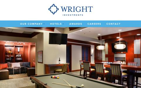 Screenshot of Home Page wrightinvestments.com - Wright Investment Properties | Hotel Management & Development - captured Oct. 6, 2014