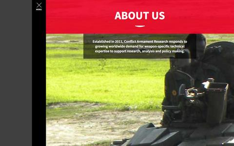 Screenshot of About Page conflictarm.com - Conflict Armament Research - captured Nov. 2, 2014