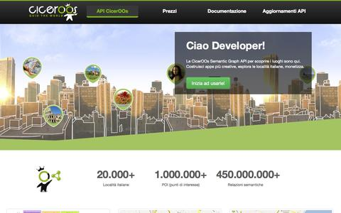 Screenshot of Developers Page ciceroos.it - CicerOOs - Semantic Graph API - captured Sept. 13, 2014