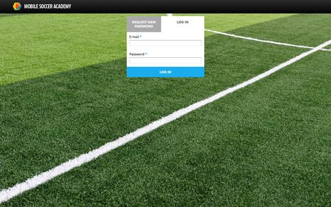 Screenshot of Login Page mobilesocceracademy.com - User account | Mobile Soccer Academy - captured Oct. 1, 2014