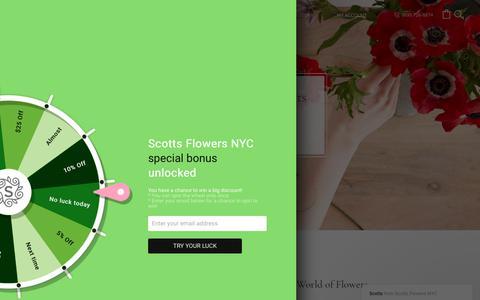 Screenshot of Blog scottsflowersnyc.com - The Fabulous World of Flowers – Scotts Flowers NYC - captured June 27, 2017