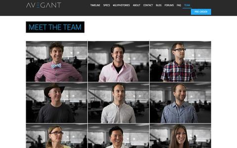 Screenshot of Team Page avegant.com - Our Team | Avegant Glyph - captured Oct. 29, 2014