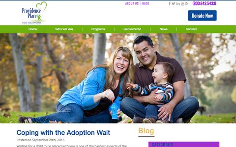 Screenshot of Blog provplace.org - Blog Archives - Child Adoption Agency & Services | Adoption Centers – San Antonio, Texas - captured Oct. 11, 2015