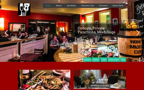 Screenshot of Home Page greenparkbrasserie.com - Green Park Brasserie Restaurant and Bar - captured Feb. 15, 2016