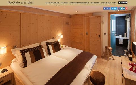 Screenshot of Home Page thechalet.com - Ski Chalets Obergurgl, Luxury Catered Ski Chalet in Austria - captured Oct. 20, 2018