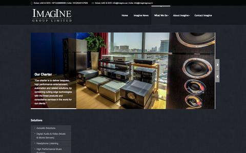 Screenshot of Services Page imagine.ae - Services - ImagIne | the ultimate audio visual and automation solutions source in the Middle East and India - captured Oct. 6, 2014