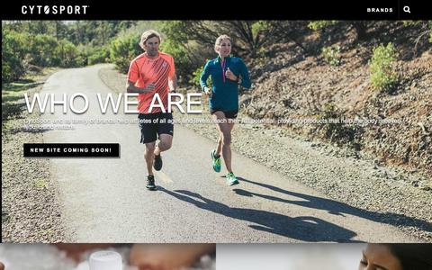 Screenshot of Home Page cytosport.com - Cytosport™ - captured Sept. 24, 2018