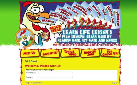 Screenshot of Login Page misterrooster.com - Login : Mister Rooster - captured Oct. 7, 2014