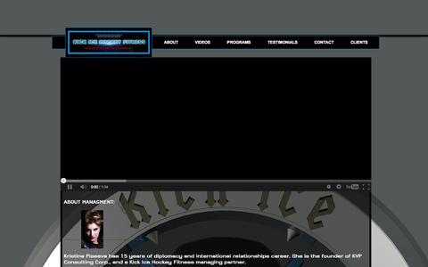 Screenshot of Home Page kickicefitness.com - KICK ICE HOCKEY FITNESS - captured Oct. 6, 2014