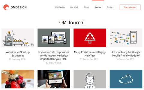 Journal | OM Studio web design company London
