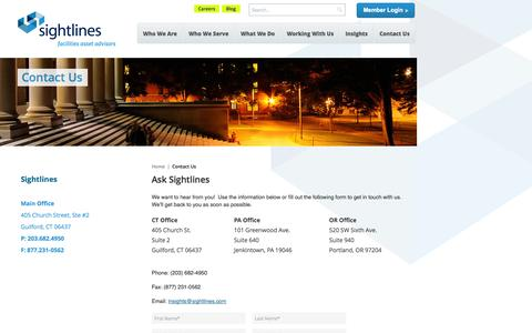 Contact Us | Sightlines