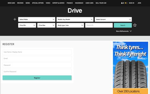 Screenshot of Signup Page drive.com.au - Drive.com.au | Reviews & Advice, Buy - Sell New & Used Cars - captured June 20, 2017
