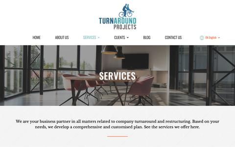 Screenshot of Services Page turnaround.es - Expertos en reestructuración empresarial | Turnaround Projects - captured Oct. 20, 2018