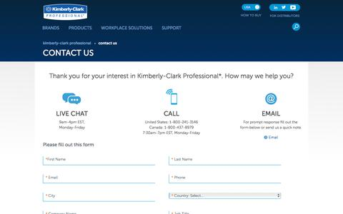 Screenshot of Contact Page kcprofessional.com - Contact Us - captured Feb. 20, 2020