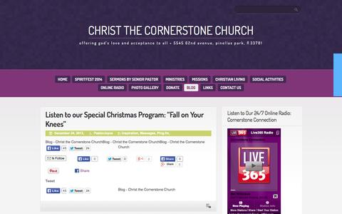 Screenshot of Blog christcornerstone.com - Blog - Christ the Cornerstone Church - captured Oct. 2, 2014