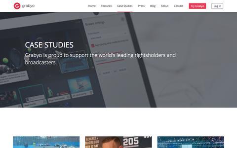 Screenshot of Case Studies Page grabyo.com - Case Studies – Grabyo - captured Sept. 7, 2017