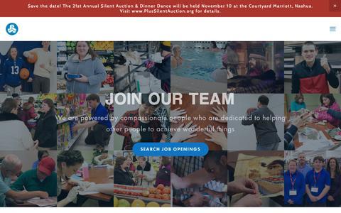 Screenshot of Jobs Page pluscompany.org - PLUS Careers — PLUS Company, Inc. - captured Oct. 20, 2018