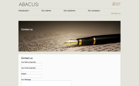 Screenshot of Contact Page abacusconseil.com - Abacus Conseil | family office - contact us - captured July 24, 2016
