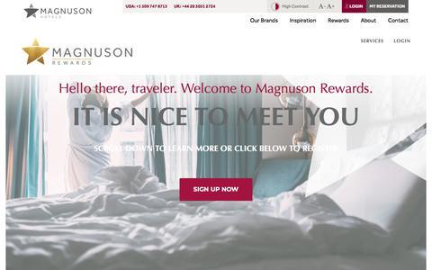 Screenshot of Signup Page magnusonhotels.com - Magnuson Rewards: Join today! ⋆ Magnuson Hotels - captured Sept. 24, 2018