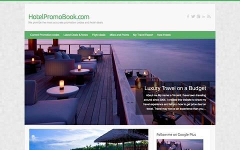 Screenshot of Home Page hotelpromobook.com - HotelPromoBook.com | We provide the most accurate promotion codes and hotel deals - captured Oct. 3, 2014