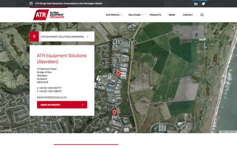 Screenshot of Contact Page atrgroup.co.uk - ATR — Global Equipment Specialists - captured Sept. 30, 2014