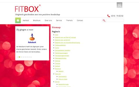 Screenshot of Site Map Page fitbox.nl - Sitemap - Fitbox - captured Sept. 30, 2014