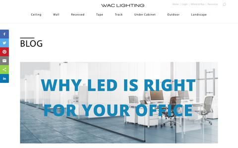 Screenshot of Blog waclighting.com - » Blog - captured Oct. 28, 2019