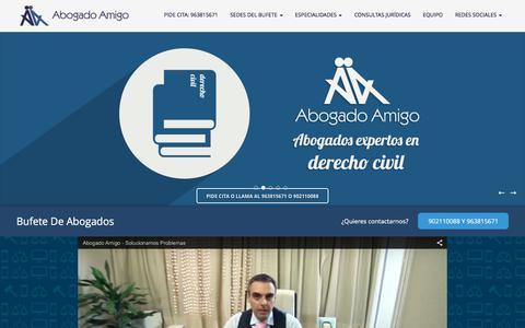 Screenshot of Home Page abogadoamigo.com - AbogadoAmigo- Despacho de Abogados en Valencia - captured Dec. 23, 2015