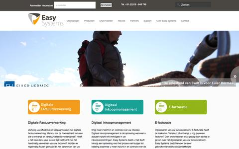Screenshot of Home Page easysystems.nl - Home - Easy Systems - captured Sept. 27, 2014