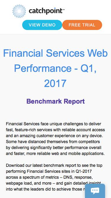 Financial Services Benchmark | Catchpoint