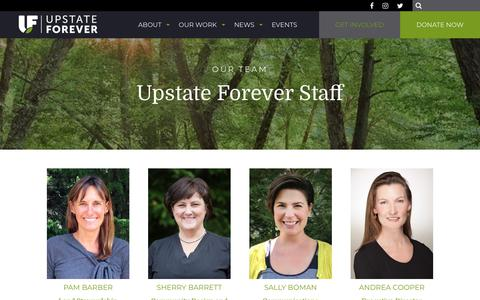Screenshot of Team Page upstateforever.org - Upstate Forever Staff - Our Team Members - captured Feb. 17, 2018