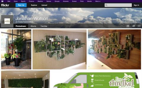 Screenshot of Flickr Page flickr.com - Flickr: Jim Threlkel Florist & Foliage's Photostream - captured Oct. 25, 2014