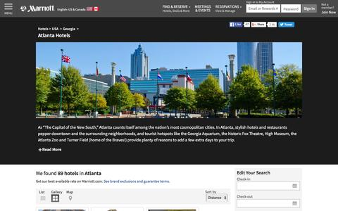 Find Atlanta Hotels by Marriott