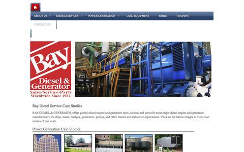 Screenshot of Case Studies Page baydiesel.com - Case Studies showing the benefits | Bay Diesel - captured Feb. 7, 2016