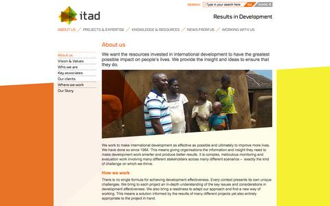 Screenshot of About Page itad.com - About us - Itad - captured Jan. 9, 2016