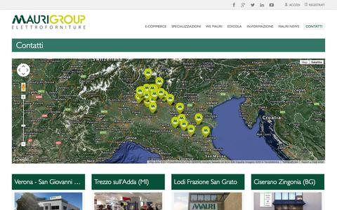 Screenshot of Contact Page maurigroup.it - Contatti   Mauri Group - captured Oct. 27, 2014