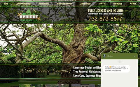 Screenshot of Home Page uprightnj.com - Upright Landscape | Landscape & Tree Service | Somerset, NJ - captured Nov. 15, 2018