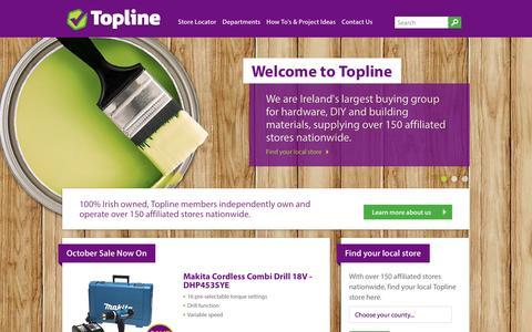 Screenshot of Blog topline.ie - Topline > Home - captured Oct. 23, 2014