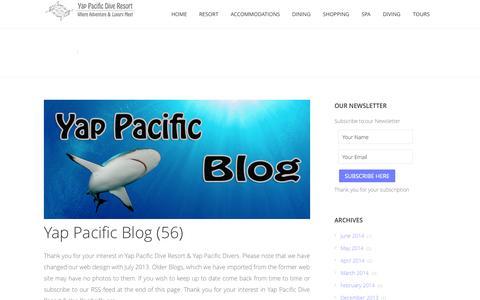 Screenshot of Blog yap-pacific.com - Yap Pacific Blog - captured Oct. 4, 2014